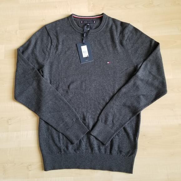 NWT Men/'s Tommy Hilfiger V-Neck Pima Cotton Cashmere Pullover Sweater
